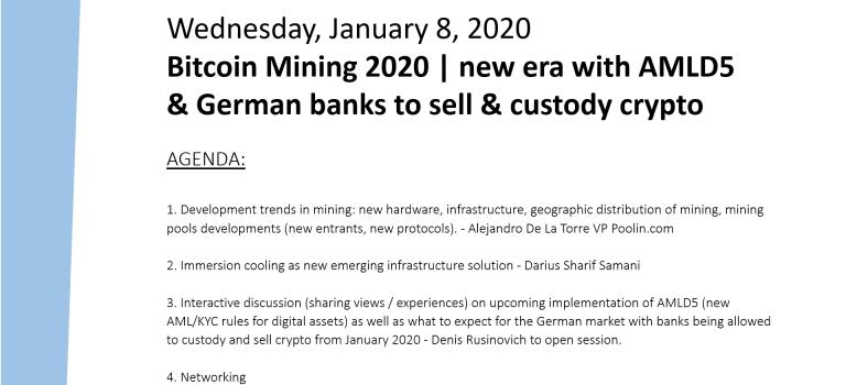 Bitcoin Mining 2020 | new era with AMLD5 & German banks to sell & custody crypto