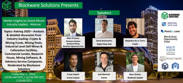"Bitcoin ""Market Insights Webinar"" hosted by @BlockwareTeam"